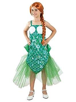 DISBACANAL Disfraz de Sirena para niña - Único, 12 años ...