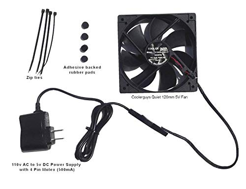 Coolerguys Quiet 120mm AC Powered Receiver/Component Cooling Fan ()