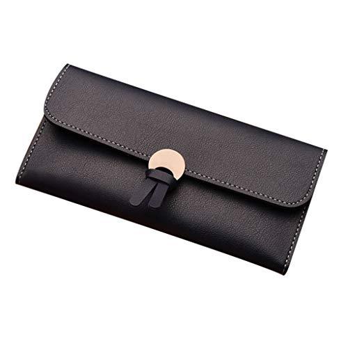 Women's Trifold Leather Credit Card Checkbook Holder Purse Multi Card Organizer Case Wallet ID Window Clutch with Zipper ()
