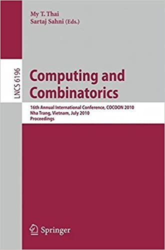 Book Computing and Combinatorics: 16th Annual International Conference, COCOON 2010, Nha Trang, Vietnam, July 19-21, 2010 Proceedings (Lecture Notes in ... Computer Science and General Issues) (2010-09-13)