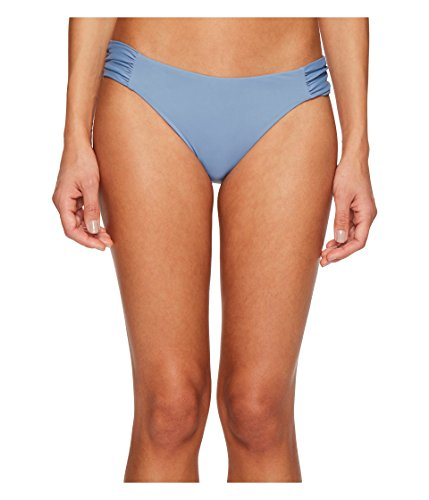 - Becca by Rebecca Virtue Women's Tab Side Hipster Bikini Bottom Steel M