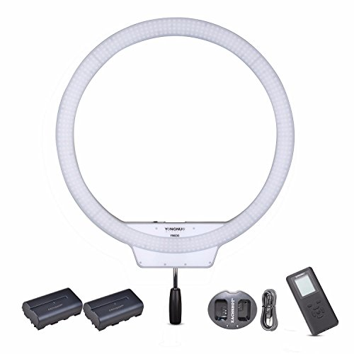 YONGNUO YN608 3200K-5500K Kit {Including 2PCS Battery, Charger} YN-608 CRI 95+ 608PCS LED Bulds Video Ring Light 4864LM by Yongnuo