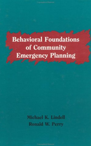 Behavioural Foundations Of Community Emergency Planning