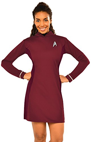 Star Trek Womens Costumes (Rubie's Women's Star Trek: Beyond Uhura Deluxe Costume Dress, Red, Small)