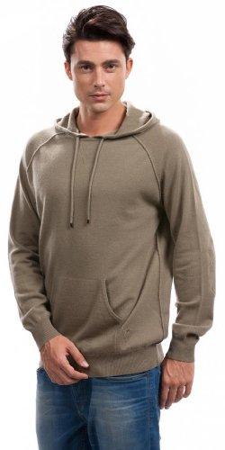 Hoodies for Men - 100% Cashmere - by Citizen Cashmere (Khaki, M) 42 112-12-02 by Citizen Cashmere (Image #2)