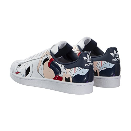 Adidas Originals Superstar Des Femmes Ro Blanc / Blanc / Nuit Indigo