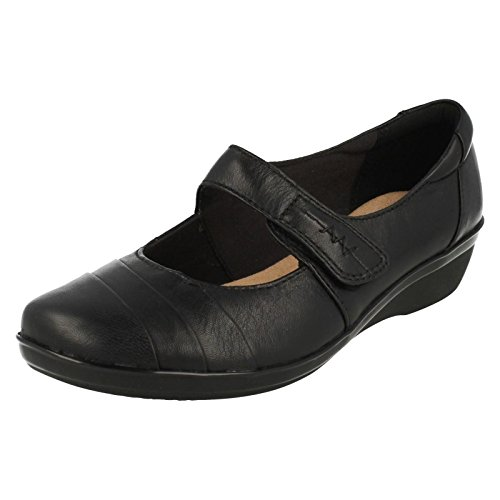Everlay Femme Chaussures Cushion Kennon Clarks Soft Noir Smart 5XCaad1