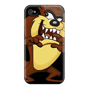 Scratch Protection Hard Phone Cases For Apple Iphone 4/4s (LoQ627ViCW) Allow Personal Design Lifelike Taz Pattern
