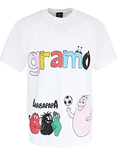 縁第九腐ったグラモ(gramo)×バーバパパ Tシャツ lesson (130, ホワイト)