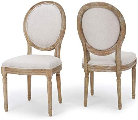 Christopher Knight Home Phinnaeus Beige Fabric Dining Chair Set Of 2