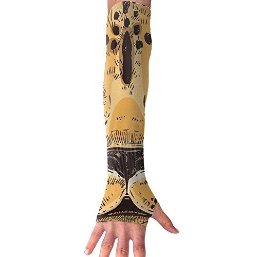 HBSUN FL Unisex Animal African Cheetah Anti-UV Cuff Sunscreen Glove Outdoor Sport Riding Bicycles Half Refers Arm Sleeves by HBSUN FL