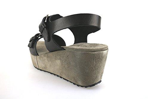 CAFE' NOIR sandali donna nero pelle AG283