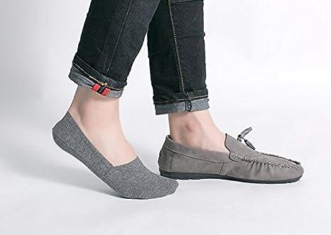 Weifei Hommes D/ét/é Coton Anti-odeur Pure Silicone Anti-d/érapant Shallow Bouche Sans Couture Chaussettes Bateau