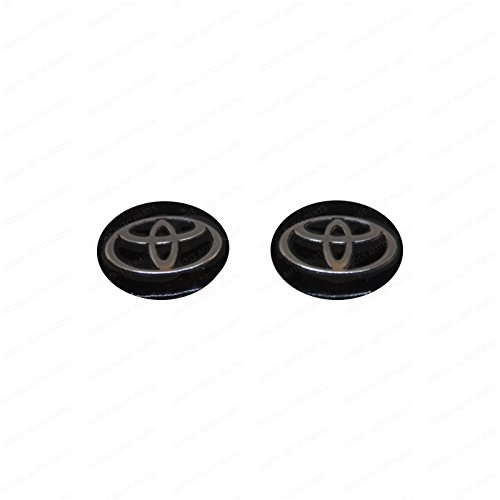 Bross BDP844FBA 2 Pieces Car Key Logo Auto Emblems 14 mm for Toyota