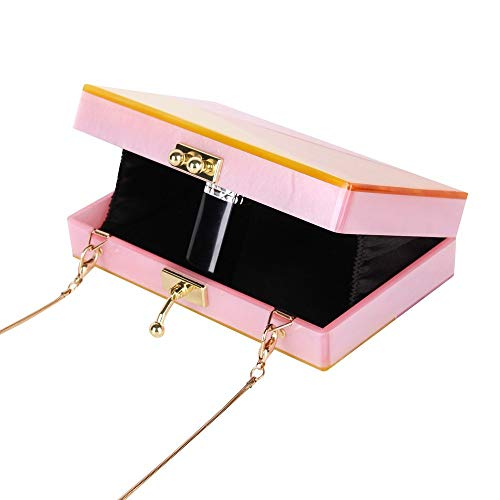 Fashion Clutch Box Acrylic Evening New KLLXEB Acrylic Perspective Women Clutch Purses Bag Puzzle Party Wedding Clutch Ceometric Acrylic n4vwq8Bw