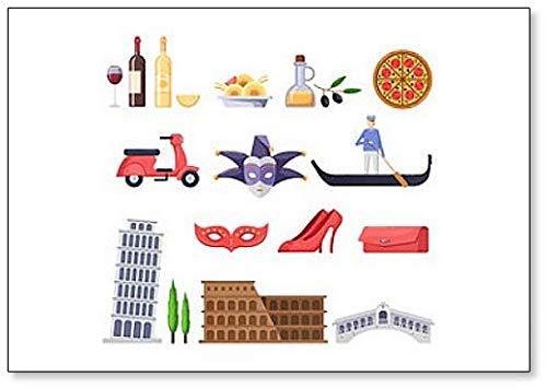Imán para nevera con diseño de iconos de los lugares famosos de ...