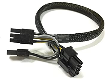 LODFIBER 8pin to 6+2pin Power Cable for DELL T3600 and GPU Video card 35cm