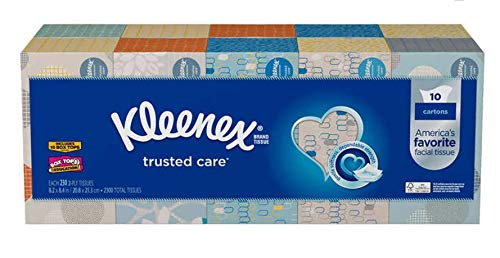 Kleenex Trusted Care Everyday Facial Tissues, Family Box