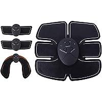 FairySu 4 szt. ABS trener fitness sprzęt treningowy EMS stymulator mięśni brzucha naklejki na mięśnie przenośny toner…