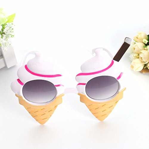 UltimaFio(TM) Lovely Cones Ice Cream Costume Funny Glasses Novelty Sunglasses Birthday Festivals Faver Event Party Supplies Decoration Gifts