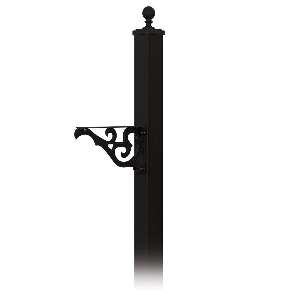 mailbox posts metal. Salsbury Industries 4845BLK Decorative Victorian In Ground Mounted Mailbox Post, Black Posts Metal