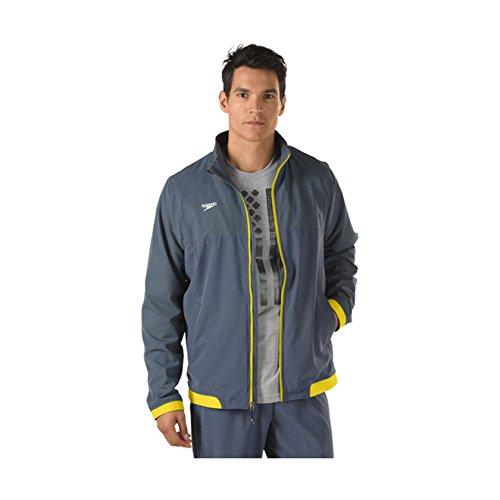 Speedo Mens Tech Warm-Up Jacket, Yellow, (Speedo Endurance Square Leg)