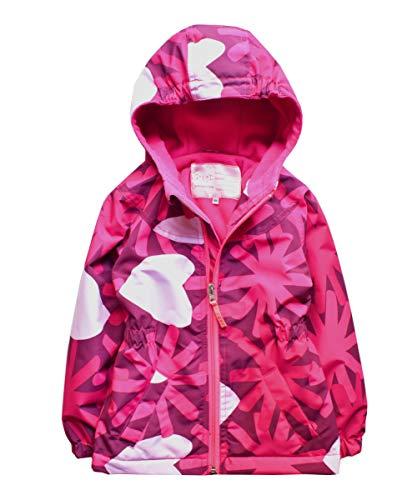 - Hiheart Girls Fleece Lined Hooded Jackets Softshell Winter Coat Rose 5/6