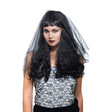 Black Widow Wig Adult Halloween Costume Accessory (Black Widow Wigs)
