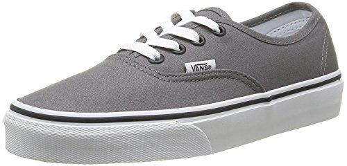 Vans Mens Authentic Core Classic Sneakers (8.5 D(M) US, Pewter/Black) (Black Authentic 10 Classic Vans)