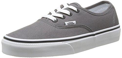 Vans Mens Authentic Core Classic Sneakers (8.5 D(M) US, Pewter/Black) (Black Vans Classic Authentic 10)