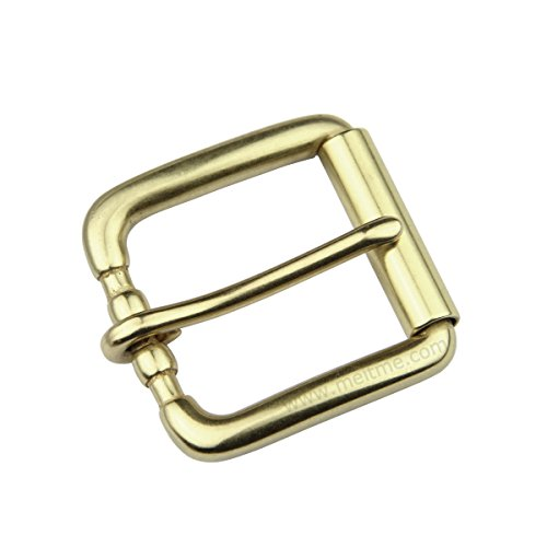 Men's Roller Belt Buckle Solid Brass Single Prong Belt Buckle 1 1/2