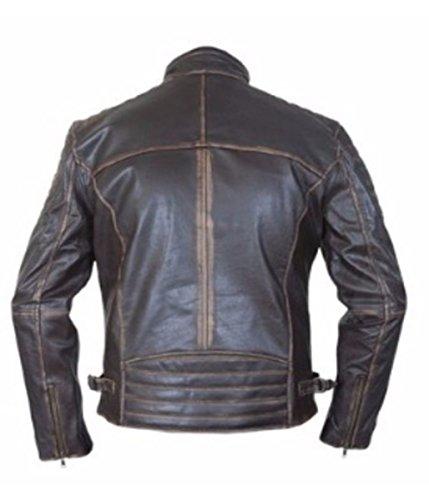 Leatherly Veste Homme Vintage Cafe Racer motard Authentique Veste de Cuir Marron