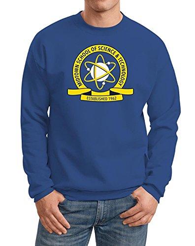 Decrum Mens Spider Mid-Town School Shirt - Blue Mens Sweatshirt | Blue, XL]()