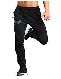 INIBUD Mens Jogger Casual Pants Jogging Slim Fit Elastic Waistband Sweat Pants
