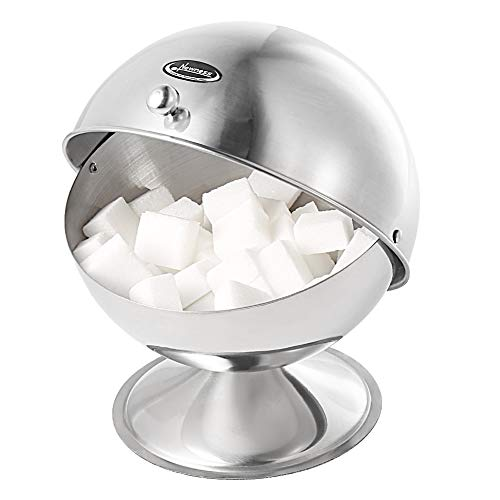 Newness Stainless Steel Multi-Purpose Sugar Bowl with Roll Top for Home & ()