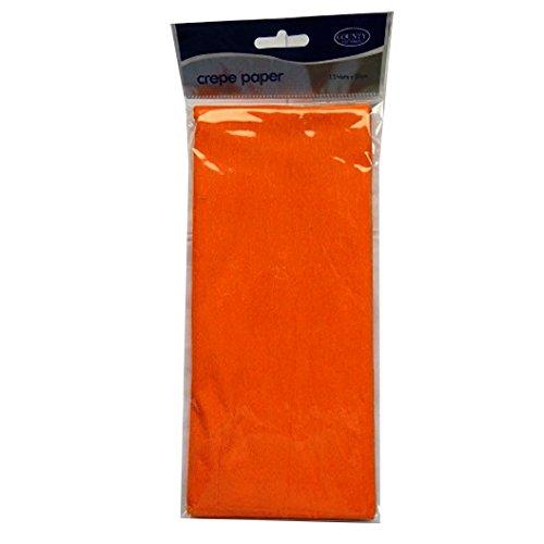 1,5 m X 50 cm C74 Papel crep/é para Manualidades naranja