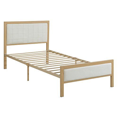Urbane Wooden Twin Bed In PU, White