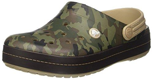 Crocs Crocband Camo Ii Clog Tumbleweed Ankle-High Clogs - 7M / 5M