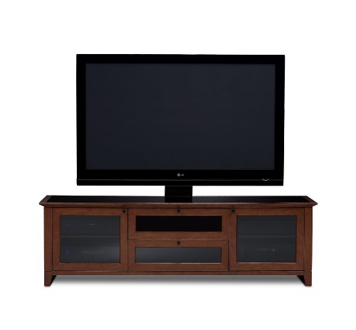 Cabinet Cherry Bdi - BDI Novia 8429-2 Triple Wide Entertainment Cabinet, Cocoa Stained Cherry