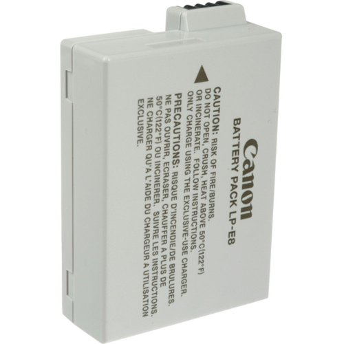 Canon LP-E8 Battery Pack for Canon Digital Rebel T2i and T3i Digital SLR Cameras (Retail Package)