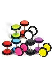 BodyJ4You 14 Pieces Fake Gauges Kit Fake Plugs 0G-8G Gauges Look (7 Pairs)