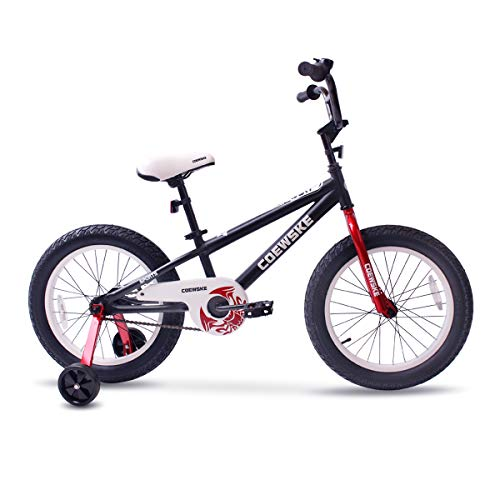 COEWSKE BMX Cycling Kid Bikes Children Bicycle for Girl and Boy 16-18 Inch with Training Wheel(18