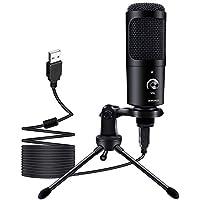 Micrófono USB de Condensador BOPUROY para Ordenadores PC Micrófono con Soporte de Trípode, Filtro Antipop, Soporte…