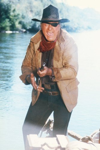 - John Wayne in True Grit 11x17 Mini Poster firing rifle