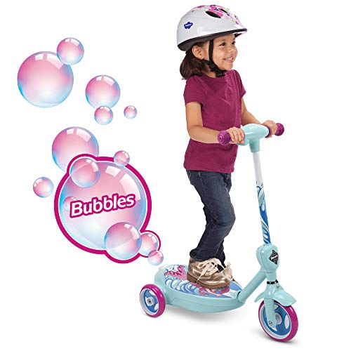 Disney Cars Scooter - Huffy 18037P 6V 2 in 1 Bubble Scooter (Mermaid) Toy, Pink
