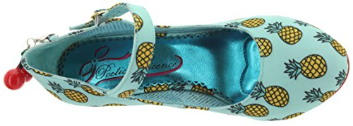Poetic Licence Riemchenpumps The Right Stripes 3872-06AC Blue-Yellow blue-yellow