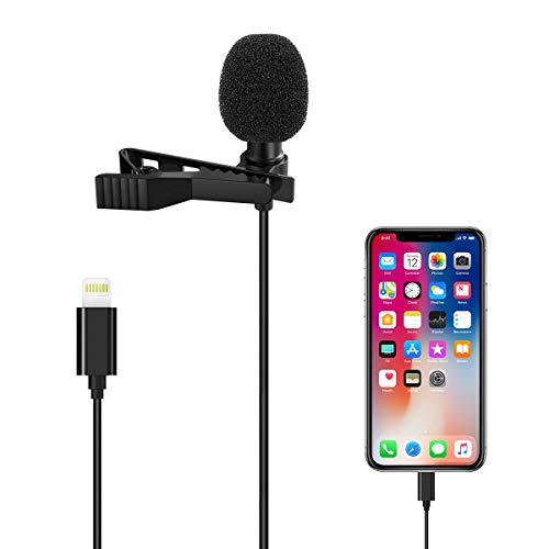 Microphone Professional for iPhone/Video Conference/Podcast/Voice Dictation/Youtube Grade Valband Omnidirectional Phone Audio Video Recording Condenser Microphone  (1.5m)
