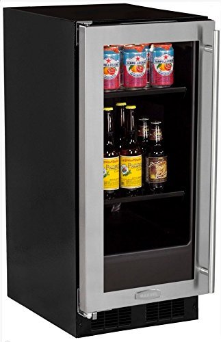 Cheap AGA Marvel ML15BCG1LS Beverage Center, Left Hinge Stainless Steel Frame and Glass Door, 15-Inch