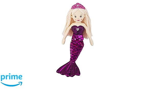 """New Ganz 18/"""" Shimmer Cove Mermaid FIONA Stuffed Toy Plush Doll gift Brown Pink"""