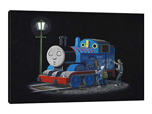 "Thomas The Tank Engine - Canvas Wall Art Gallery Wrapped Ready to Hang - 40""x26"""